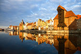 Gdansk in the morning light — Stock Photo