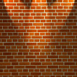 Brick wall and lights — Stockfoto