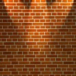 Brick wall and lights — 图库照片