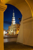 Town Hall in Zamosc — Stock Photo