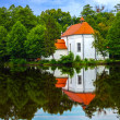 Church on the water in Zwierzyniec, Poland. — Stok fotoğraf