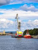 Floating cargo crane — Stock Photo