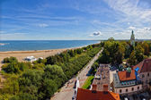 Aerial view bay of Gdansk — Stock Photo