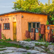 Stock Photo: Old abandoned gas station