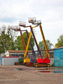 Mobile crane basket — Foto Stock
