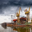 Shipyard Industry — Stock Photo