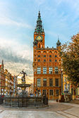 Town Hall in Gdansk, Poland — Stock Photo