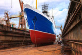 Ship in the floating dock — Stock Photo