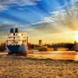 Stock Photo: Port at sunset