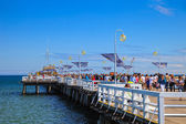 Pier in summer sunny day in Sopot, Poland. — Stock Photo
