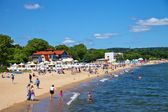 People on the beach in Sopot, Poland. — Stock Photo
