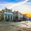 Stock Photo: Gdansk city on sunrise