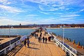 Pier in Sopot, Poland — Stock Photo