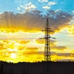 yüksek gerilim enerji hattı — Stok fotoğraf #49494879
