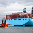 Container ship with tugboat — Stock Photo #49497053