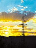 High voltage power Line — Stock Photo