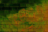 Graffiti brick wall — Stock Photo