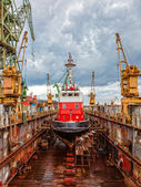 Shipbuilding, ship repair — Stock Photo