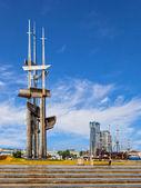 Monument Three Masts — Stock Photo