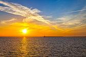 Sunrise at sea — Stock Photo