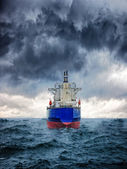 Ship in storm — Stock Photo