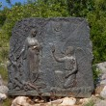 Station of the Joyful Rosary No.1 - The Annunciation, Medjugorje, Bosnia and Herzegovina. — Stock Photo #50407409