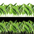 Lily of the Valley border — Stock Photo