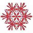 Red snowflake — Stock Photo #15647503