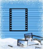 Pasiaste tło z klatki filmu — Zdjęcie stockowe