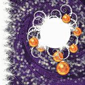 Christmas purple background — Stock Photo