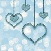 Heart garland — Foto Stock