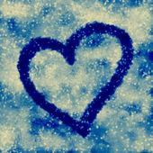 Fundo de coração azul — Foto Stock