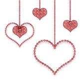 Heart red garland — Stock Photo
