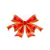 赤い弓.ベクトル — ストックベクタ