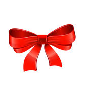 Red bow. Vector — Stock Vector