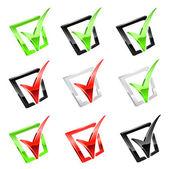Vector set of checkmark — Stock Vector