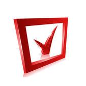 Vector red checkmark — Stock Vector