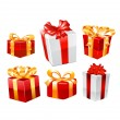 Gift set. Vector — Stock Vector