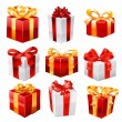 Stock Vector: Gift set. Vector