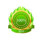Green eco icon. Vector — Stock Vector