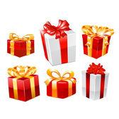 Cadeauset. vector — Stockvector