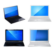 Laptop icon set — Stock Vector