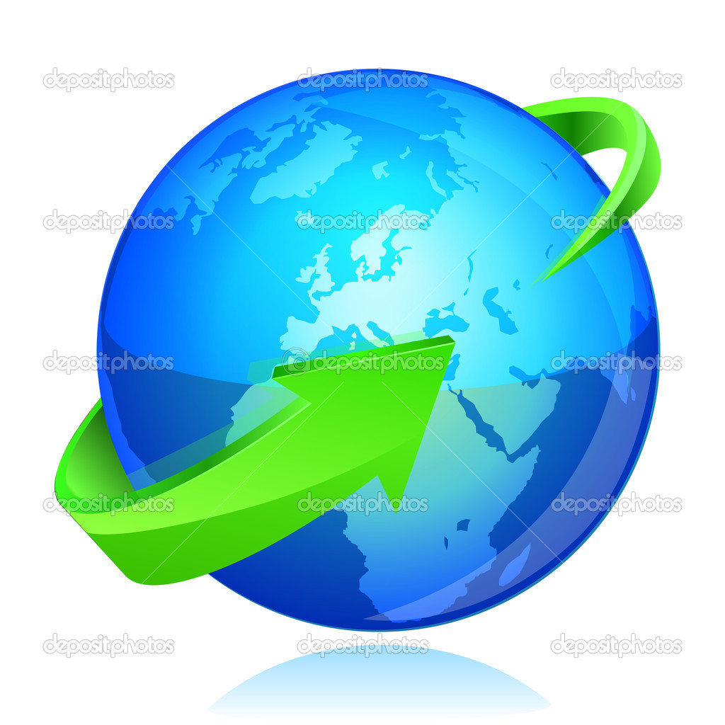 Turn around sign stock image image 35488961 - Earth With Green Arrow Circle Around Stock Vector