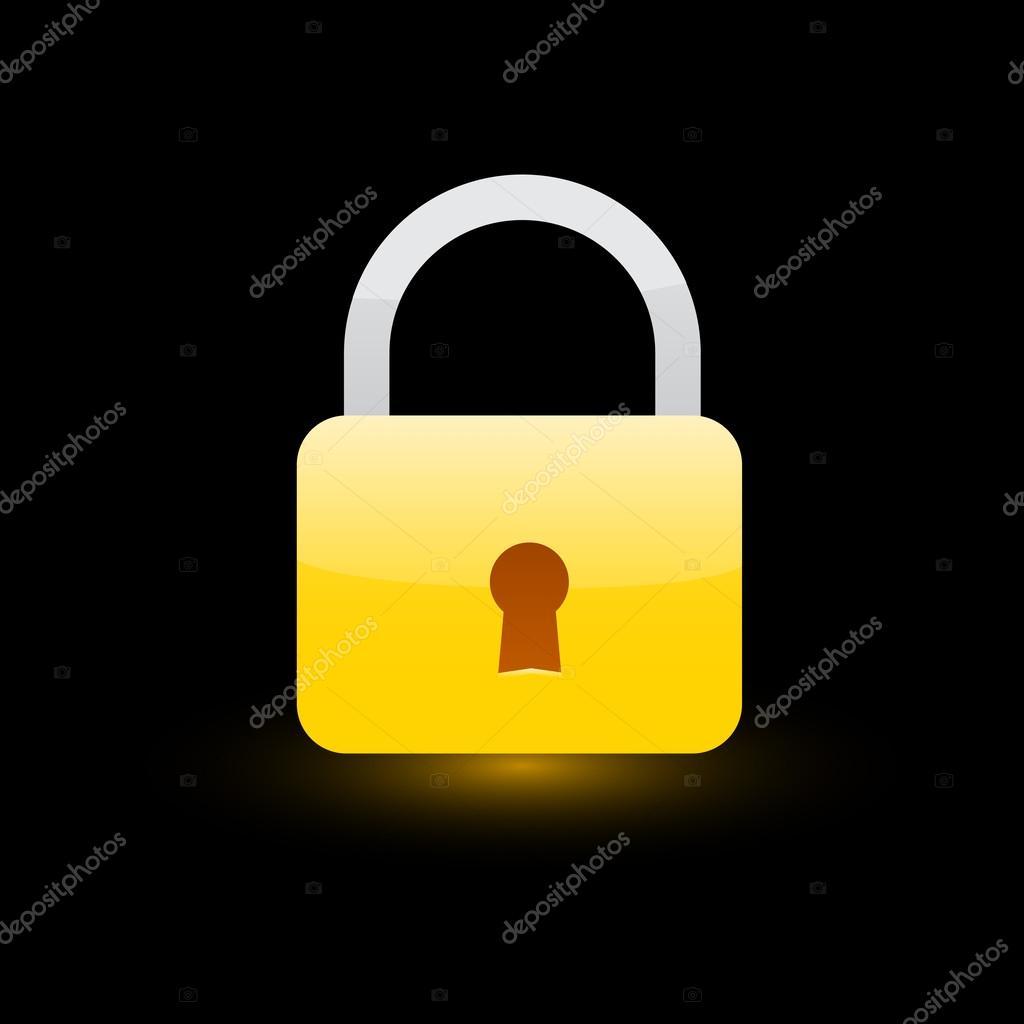 Icon Yellow Yellow Lock Icon