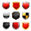 Shield icon set. Vector — Stock Vector