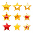 Stars set. Vector — Stock Vector