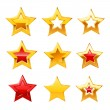 Stock Vector: Stars set. Vector