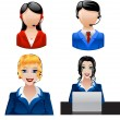 Stock Vector: Customer support phone operators. Vector