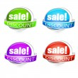 Various discount tags — Stock Vector