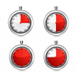 Vector stop watch, realistic illustration. — Stock Vector